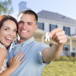 Military Couple with House Keys